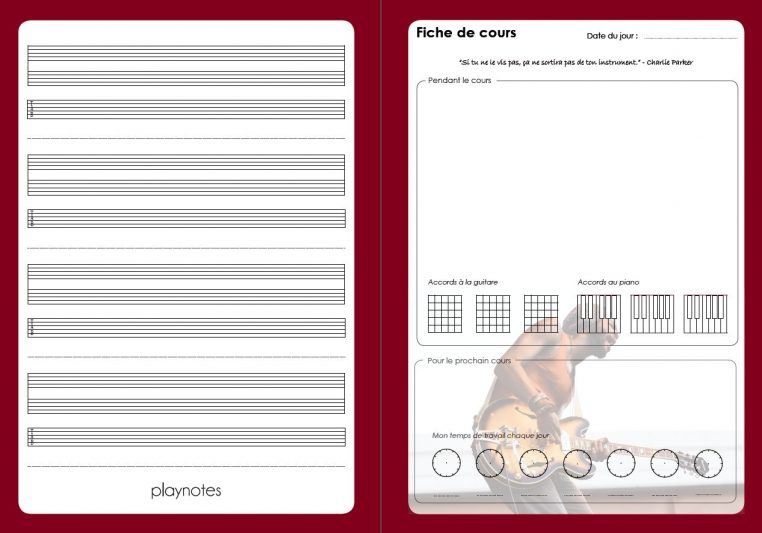Cahier de musique Play Notes