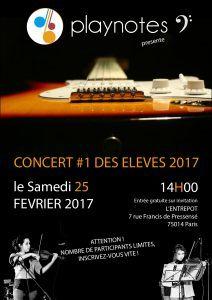 Concert des élèves Play Notes le 25/02/2017